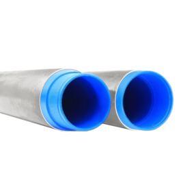 Стальная труба ⌀ 133 + внутренняя ПНД труба ⌀ 117 мм для артезианской скважины