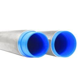 Стальная труба ⌀ 159 + внутренняя ПНД труба ⌀ 125 мм для артезианской скважины