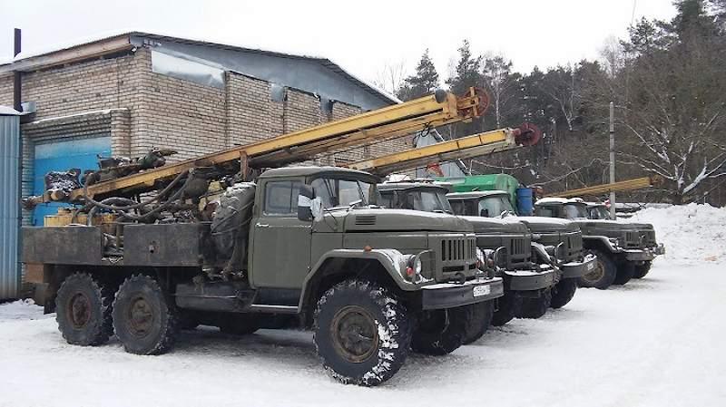 Буровые установки для артезианских скважин на воду на базе автомобиля ЗИЛ-131