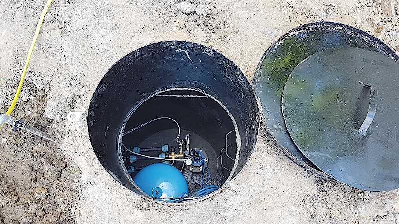 Кессонный насос для абиссинской скважины на воду