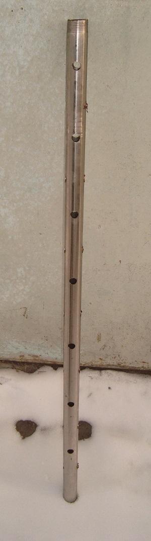 Труба для фильтра для абиссинского колодца.